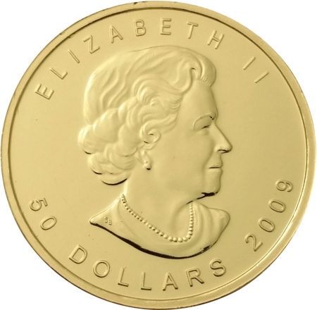 Canadian Maple Leaf Gold coin Front