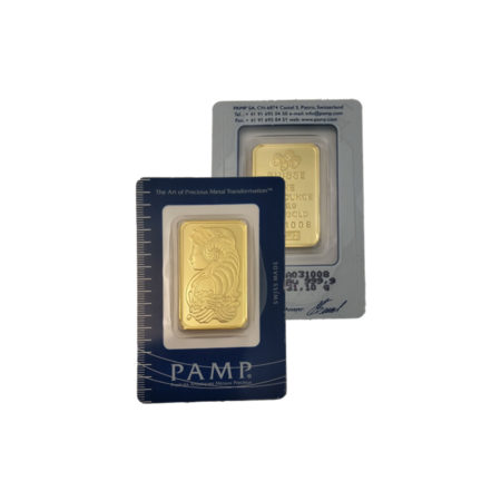 Pamp Lady Fortuna Gold Bar Front & back