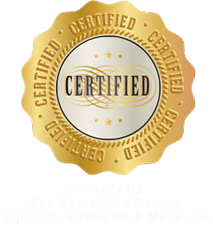 Certified by San Bernardino County