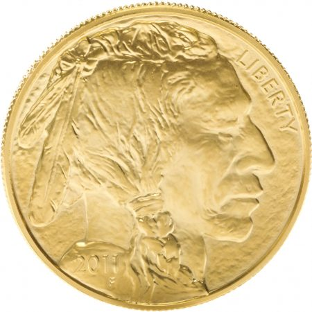 American gold buffalo front