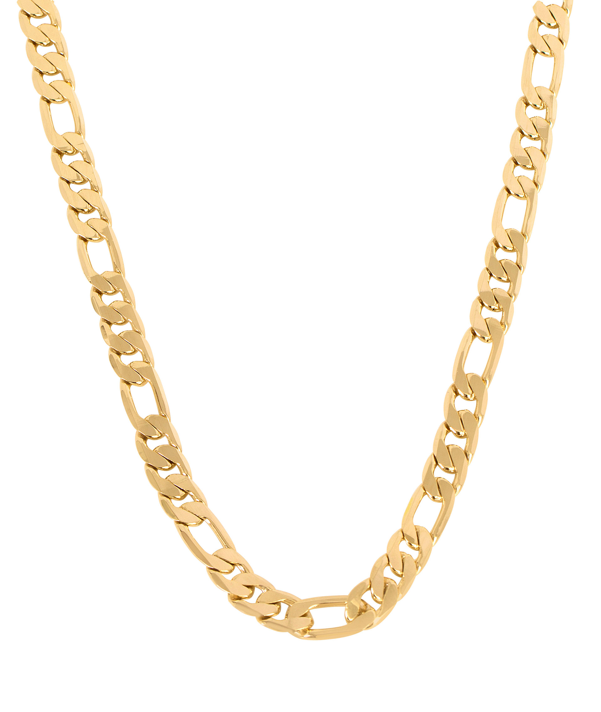 Hanging gold necklace