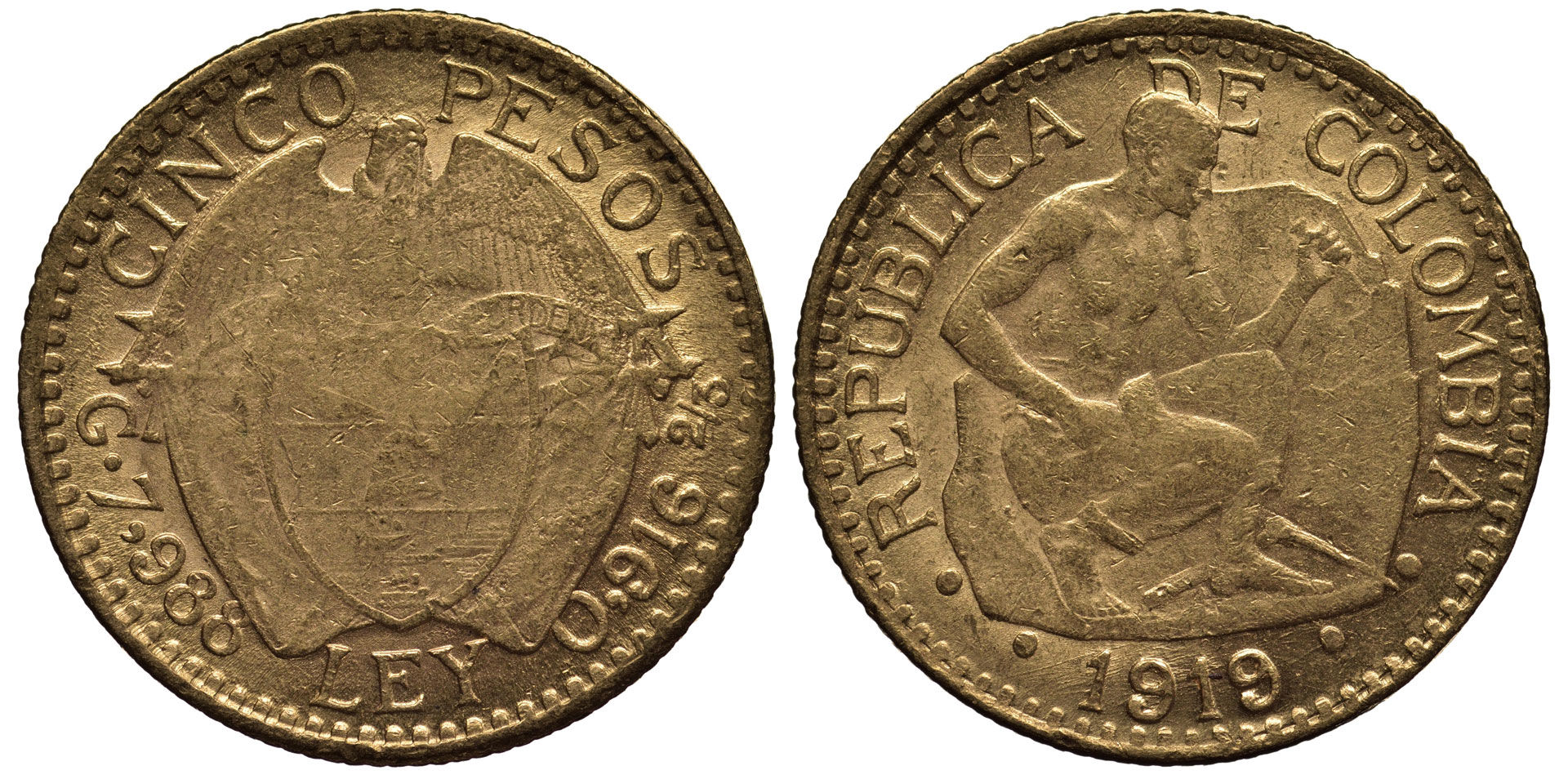South American gold coins