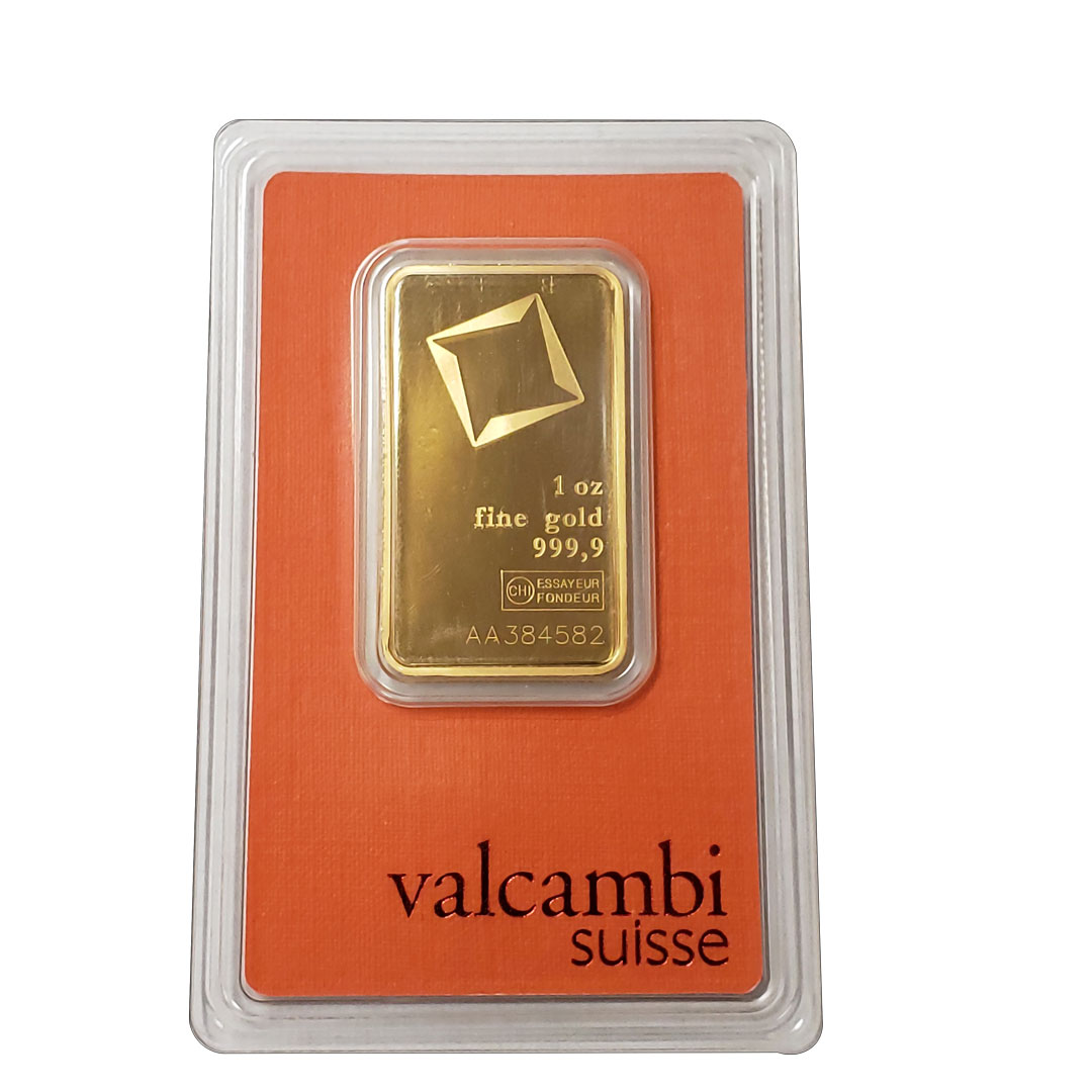 Valcambi Suisse fine gold in orange packaging