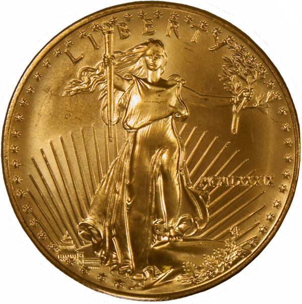 american gold eagle front