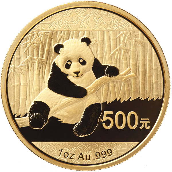 chinese gold panda coin front